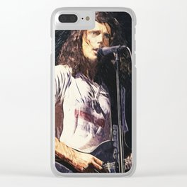 Chris Cornell Clear iPhone Case