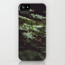 Fern in the shadow iPhone Case