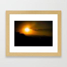 Minus Nine Framed Art Print