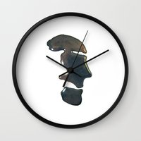 oil Wall Clocks featuring oil by christine nissen