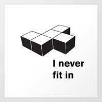 tetris Art Prints featuring Tetris by Jordy Frissen