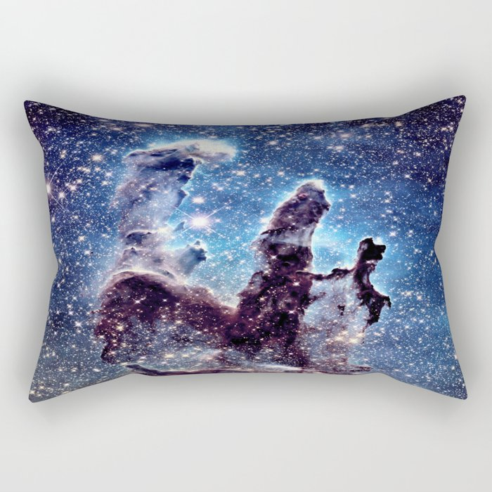 Pillars of Creation Smokey Blues Rectangular Pillow