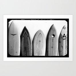 Vintage Surfboards Art Print