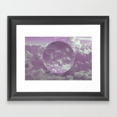 Purple Clouds Framed Art Print