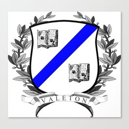 Valeton University Crest Canvas Print