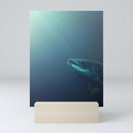 Swimming Salmon Mini Art Print