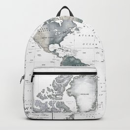 The World [Black and White Relief Map] Backpack