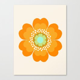 Jivin' - 70's retro throwback art floral flower motif decor hipster Canvas Print