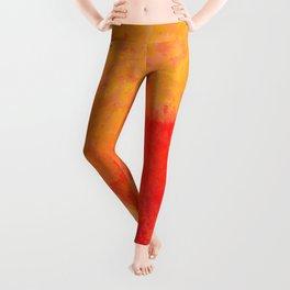 Orange watercolor paint vector background Leggings