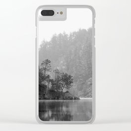 Historic Mattawa River in Black and White Clear iPhone Case