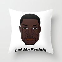 kevin russ Throw Pillows featuring Kevin Hart by ΛDX7