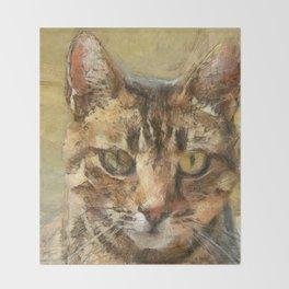 Tabby Cat Throw Blanket
