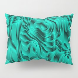 Blurry interweaving of light blue spots from the bright flowing lava and colored symmetrical blots. Pillow Sham