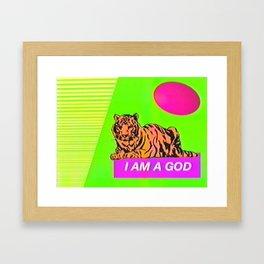 I Am A God  Framed Art Print