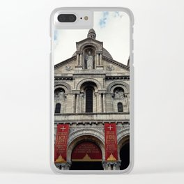 Sacred Heart Paris Clear iPhone Case