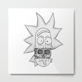 Rick x skull Metal Print
