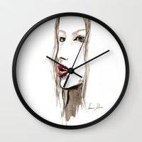 cara Wall Clocks featuring Cara by Vanessa Datorre