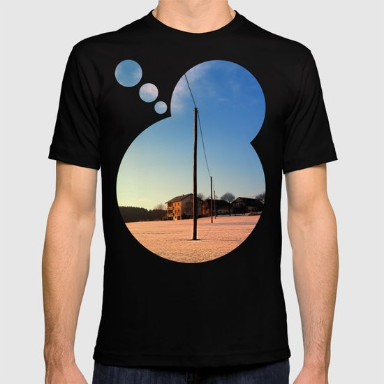 Powerline, sundown and winter wonderland | landscape photography T-shirt