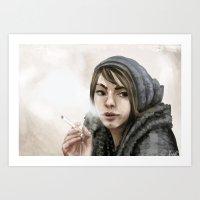 young girl portrait 3 Art Print