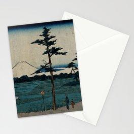 Hiroshige - 36 Views of Mount Fuji (1852) - 24: Field in Kinegawa Stationery Cards