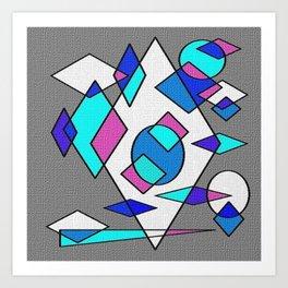 Grey blue and white Art Print