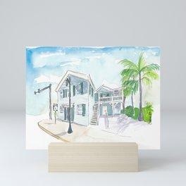 Mile 0 Marker Key West - Scenic Highway Florida Mini Art Print