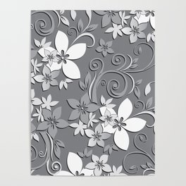 Flowers wall paper 3 Poster