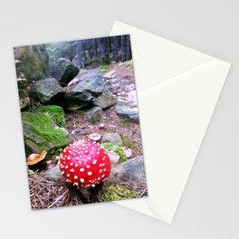 RED MUSHROOM Stationery Cards