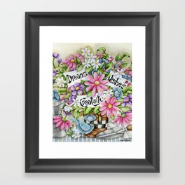 Dreams Wishes And Creativity Framed Art Print