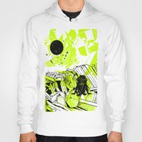 depression Hoodies featuring Depression on a Lonely Planet by MAKE ME SOME ART