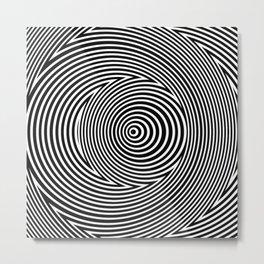 Black and White Dizzy Metal Print