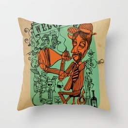 Welcome to the hell´s party Throw Pillow