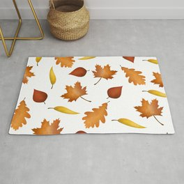 Fall Leaves Pattern Rug