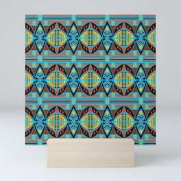 African Tribal Motif Pattern Mini Art Print