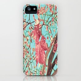 Flying Leaves iPhone Case