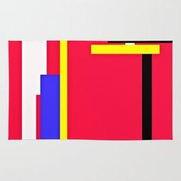 CREATIVE RED PRINT DESIGN Rug