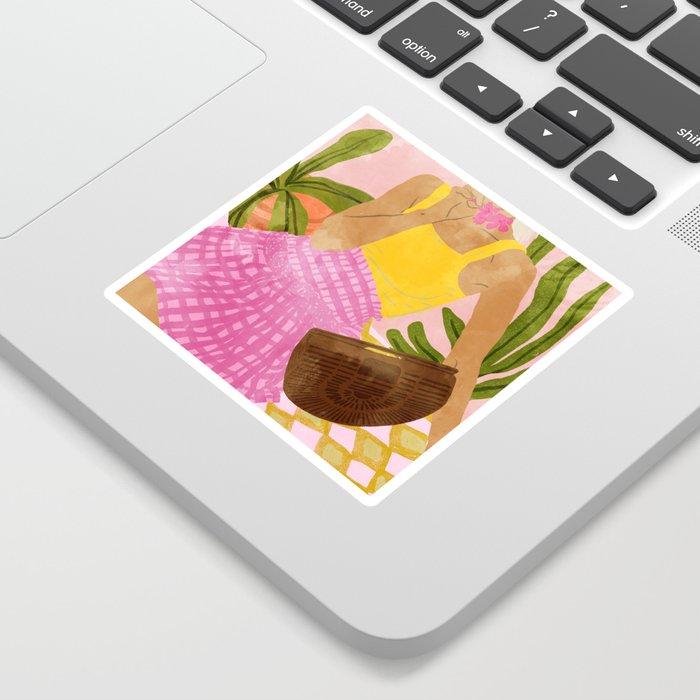 Flower Talk #illustration #painting Sticker