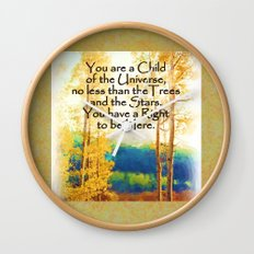 Faded Aspens DESIDERATA Wall Clock