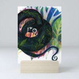 Black snek Mini Art Print