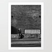 Waiting For A Streetcar Art Print