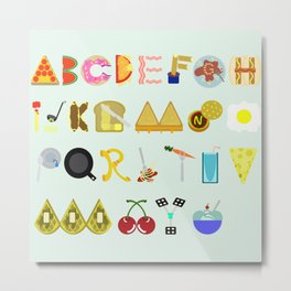 Food Font Metal Print