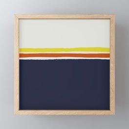 Simple Desert Night Stripes Framed Mini Art Print