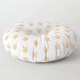 Watercolor Outlander Crown & Thistle Floor Pillow