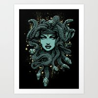 medusa Art Prints featuring Medusa by miles to go