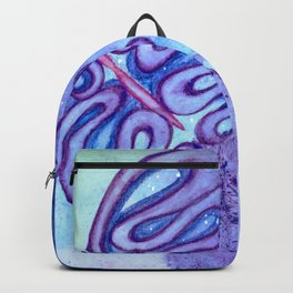 Temporality, watercolor butterfly in the sky art Backpack