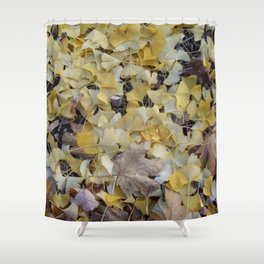 ginkgo gold Shower Curtain