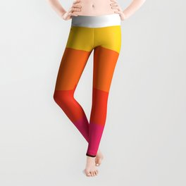 Earth and Summer Sky - Color Strips - Colors of Travel Leggings