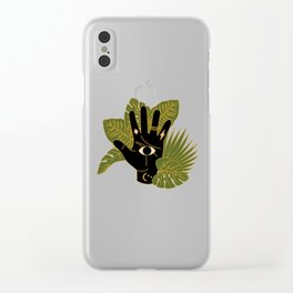 Mystic Hand Clear iPhone Case