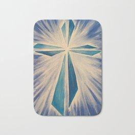 Radiant Blue Cross Bath Mat