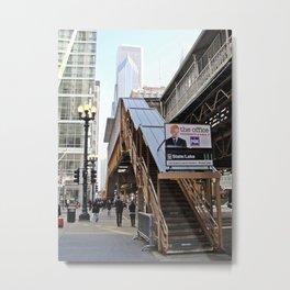 CTA State/Lake Chicago Metal Print